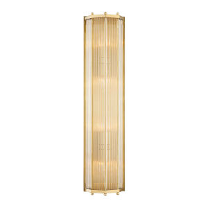 Wembley Aged Brass Four-Light ADA Wall Sconce