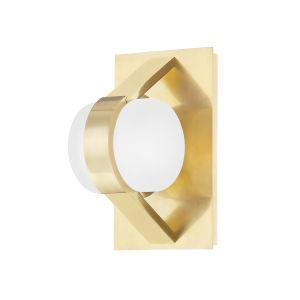 Orbit Aged Brass One-Light Wall Sconce