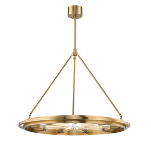 Chambers Aged Brass Nine-Light Pendant