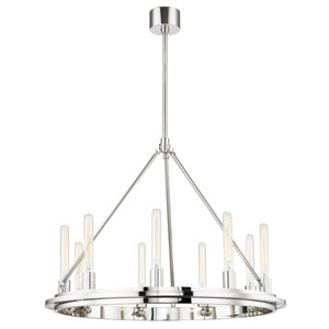 Chambers Polished Nickel Nine-Light Pendant
