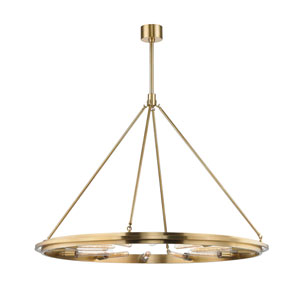Chambers Aged Brass 12-Light Pendant