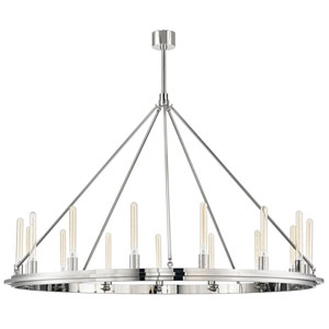 Chambers Polished Nickel 15-Light Pendant