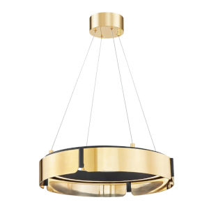 Tribeca Aged Brass Black 21-Inch One-Light LED Chandelier