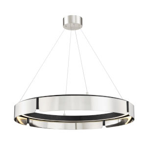 Tribeca Burnished Nickel Black 33-Inch One-Light LED Chandelier