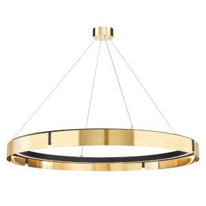 Tribeca Aged Brass Black 49-Inch One-Light LED Chandelier