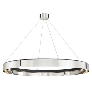 Tribeca Burnished Nickel Black 49-Inch One-Light LED Chandelier