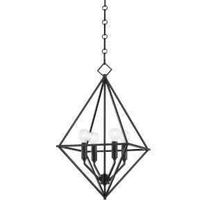 Haines Aged Iron 17-Inch Four-Light Pendant