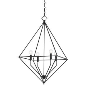 Haines Aged Iron 24-Inch Four-Light Pendant