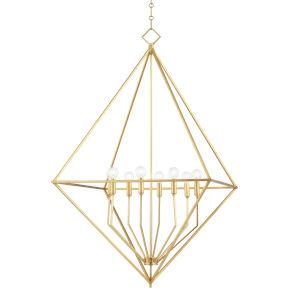 Haines Gold Leaf Eight-Light Pendant
