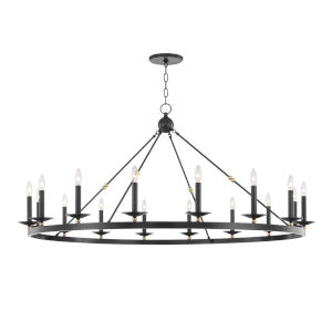 Allendale Aged Old Bronze 16-Light Chandelier