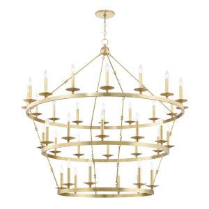 Allendale Aged Brass 36-Light Chandelier