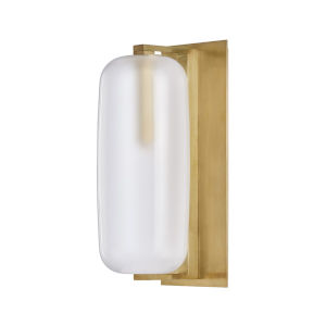Pebble Aged Brass One-Light Wall Sconce