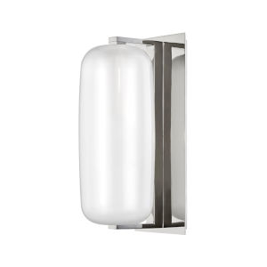 Pebble Polished Nickel One-Light Wall Sconce