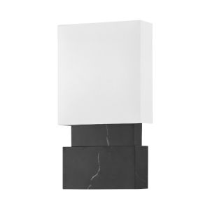 Haight Black and White Two-Light ADA Wall Sconce