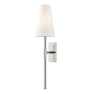 Bowery Polished Nickel One-Light Wall Sconce