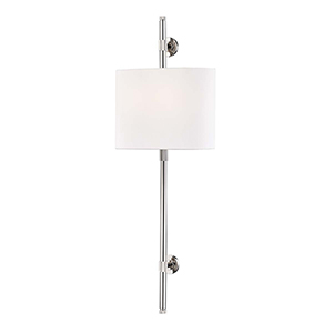 Bowery Polished Nickel Two-Light ADA Wall Sconce