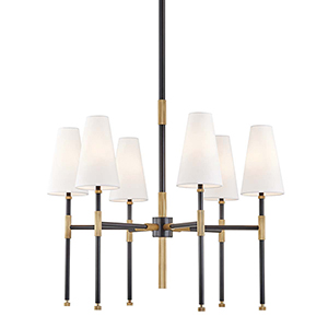 Bowery Aged Old Bronze Six-Light Chandelier