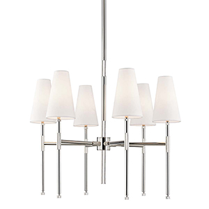 Bowery Polished Nickel Six-Light Chandelier