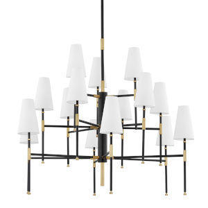 Bowery Aged Old Bronze 15-Light Chandelier
