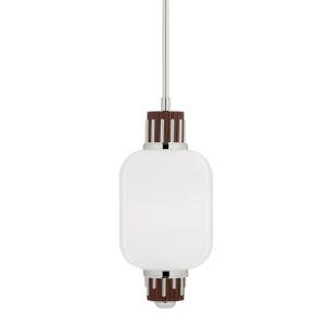 Peekskill Polished Nickel 11-Inch One-Light Pendant