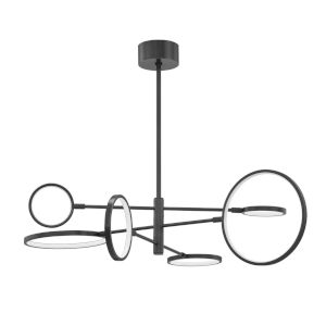 Saturn Modern Asymmetrical Old Bronze Six-Light LED Chandelier