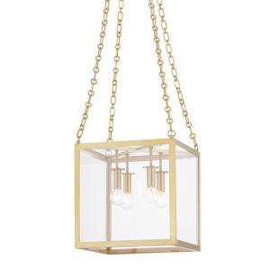 Catskill Aged Brass 12-Inch Four-Light Pendant