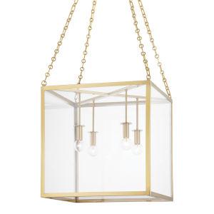 Catskill Aged Brass 18-Inch Four-Light Pendant