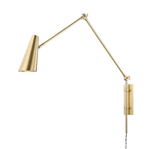 Lorne Aged Brass One-Light Wall Sconce
