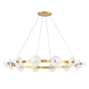 Austen Aged Brass 12-Light Chandelier