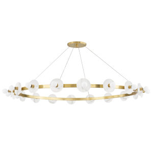 Austen Aged Brass 18-Light Chandelier
