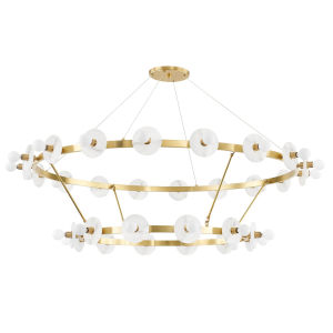 Austen Aged Brass 30-Light Chandelier
