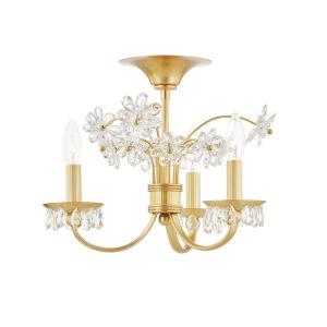 Beaumont Aged Brass Three-Light Flush Mount