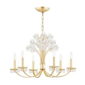 Beaumont Aged Brass Six-Light Pendant