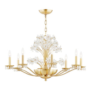 Beaumont Brass Polished 10-Light Chandelier