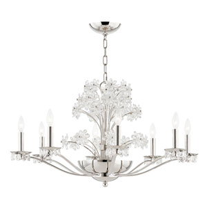 Beaumont Nickel Polished 10-Light Chandelier