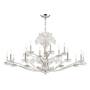 Beaumont Nickel Polished 20-Light Chandelier