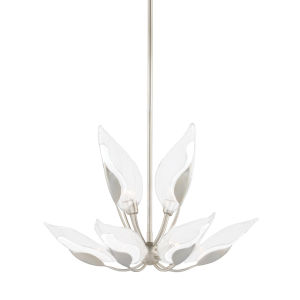 Blossom Silver 10-Light Chandelier with Clear Glass