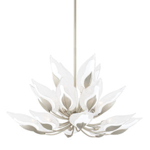 Blossom Silver 20-Light Chandelier with Clear Glass