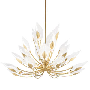 Blossom Gold 24-Light Chandelier with Clear Glass