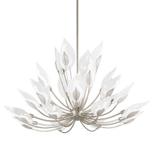 Blossom Silver 24-Light Chandelier with Clear Glass