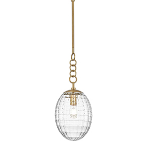Venice Aged Brass 8-Inch One-Light Pendant