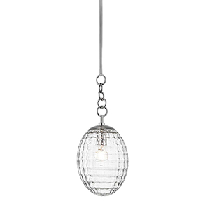 Venice Polished Nickel One-Light Pendant