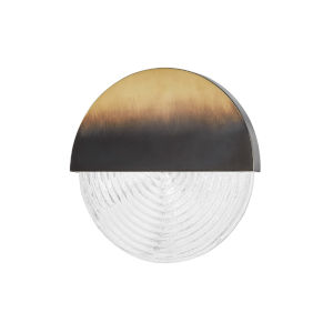 Walden Gradient Brass 11-Inch One-Light LED Wall Sconce with Clear Glass