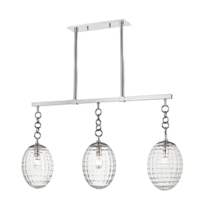 Venice Polished Nickel Three-Light Island Light
