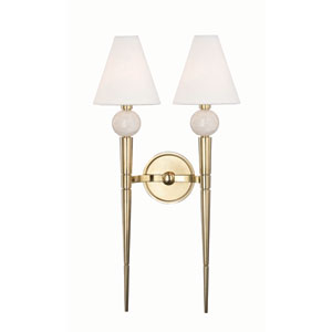 Vanessa Aged Brass Two-Light Wall Sconce