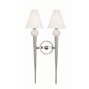 Vanessa Polished Nickel Two-Light Wall Sconce
