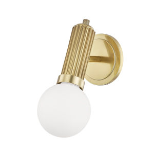Reade Aged Brass LED Wall Sconce