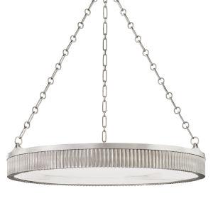 Lynden Antique Nickel Eight-Light Chandelier