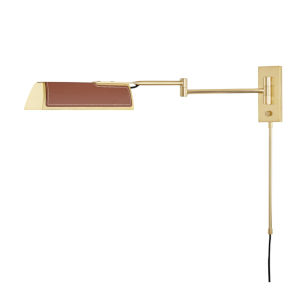 Holtsville Aged Brass/Saddle 5-Inch LED Wall Sconce