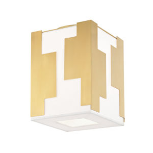Acadia Aged Brass LED Flush Mount